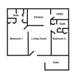 Monocacy - 2 Bed | 2 Bath - 864 sq ft